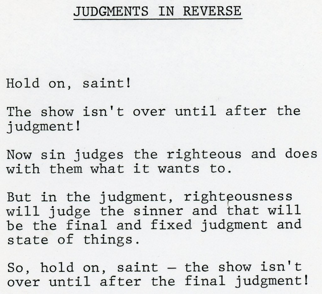 Judgments in Reverse